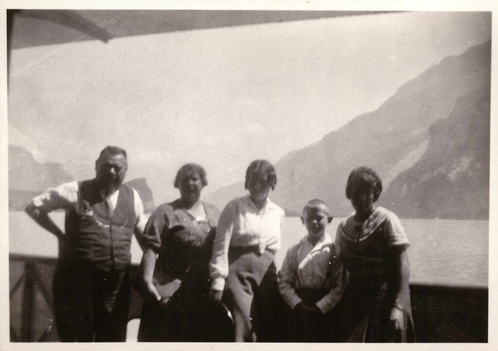 Bild: Gruppenbild u.a. mit Familie Gürtler-Baumann, ca. 1930