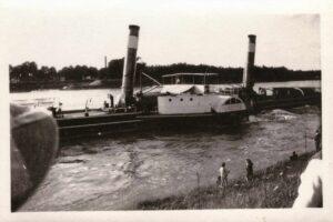 Damals: Raddampfer «Luzern» 1930 im Rhein bei Basel