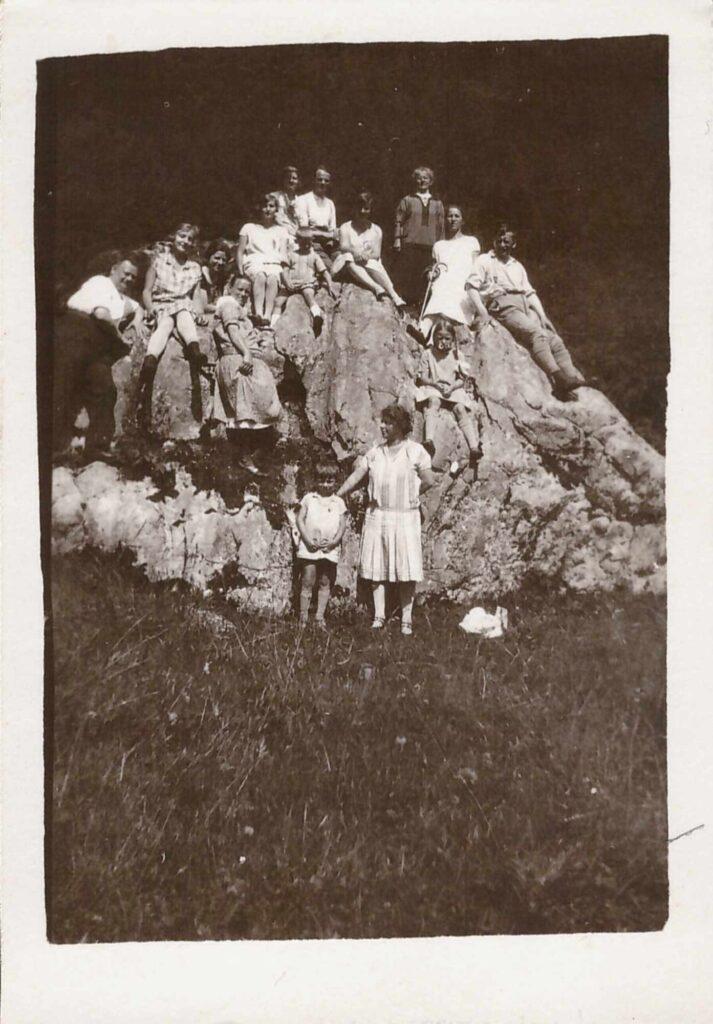Bild: Gruppenbild mit Familie Gürtler in der Bergen