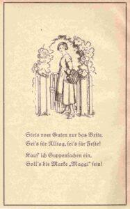 Bild: Inserat für «Maggi» im Buch «Das fleissige Hausmütterchen» von 1925