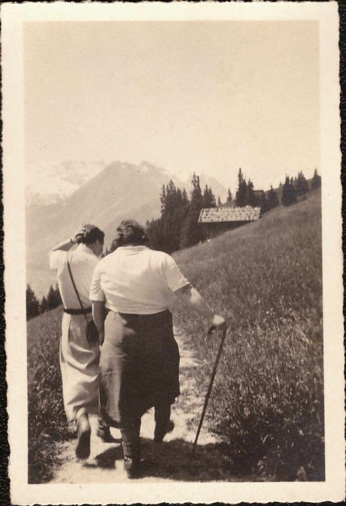 Bild: aus dem Gürtler-Ferienalbum: auf dem Wanderweg