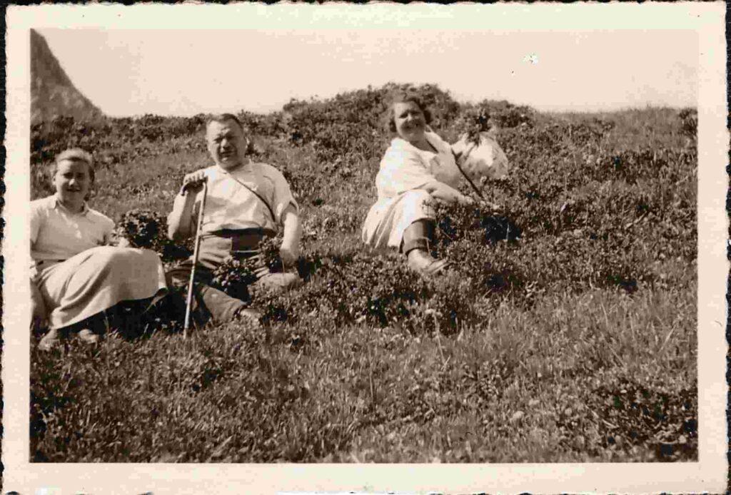 Bild: aus dem Gürtler-Ferienalbum: Rast auf einer Bergwiese
