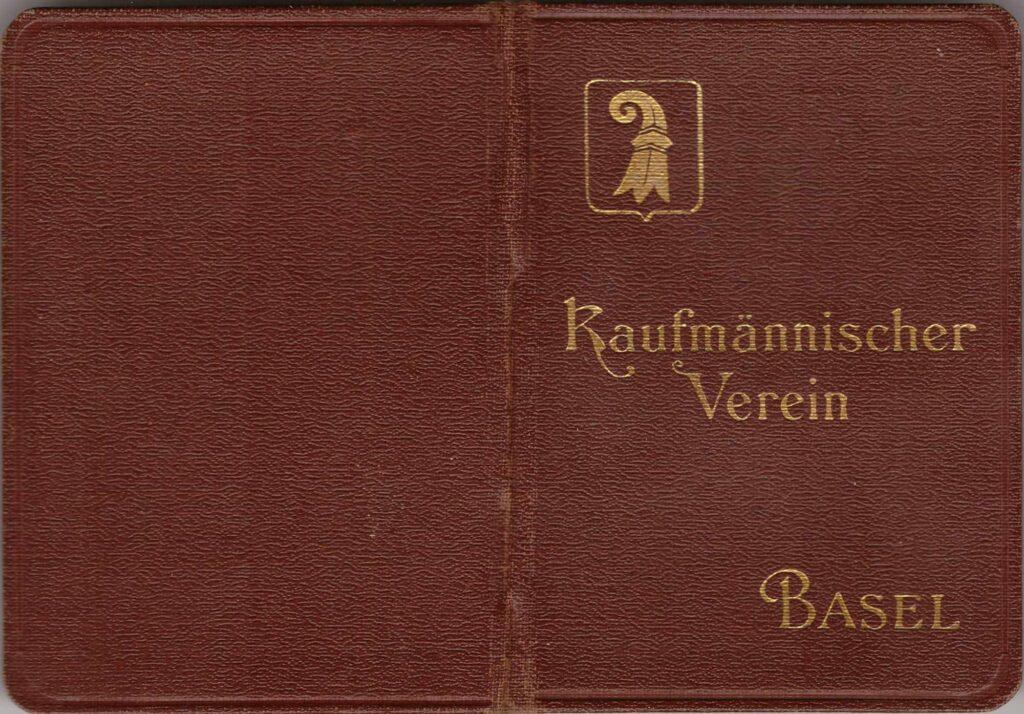 historische Ausweise Vorderseite Ausweis Kaufmännischer Verein Basel (1911)