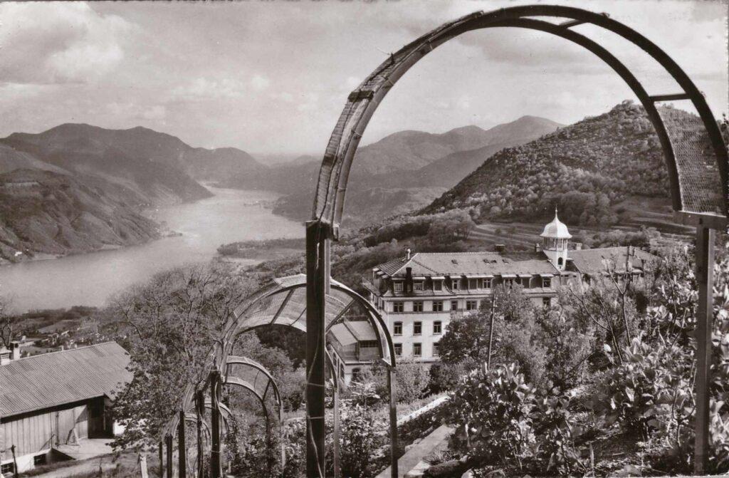 Bild: Postkarte, Kurhaus Cademario, sul Lago di Lugano, 1956