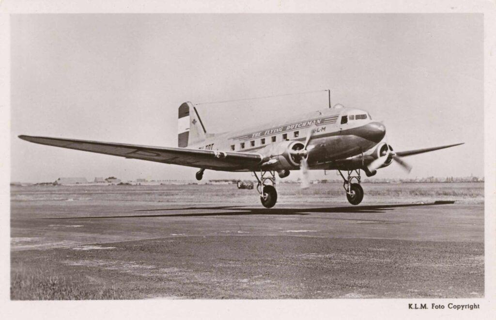 Bild: Postkarte KLM mit Douglas DC-3 aircraft