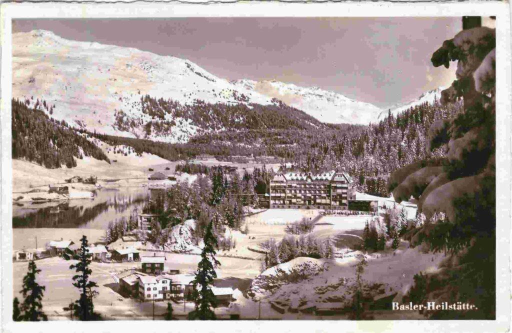 Bild: Postkarte Basler-Heilstätte in Davos