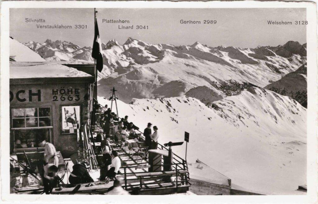 Bild: Postkarte Weissfluhjoch aus dem Jahr 1944