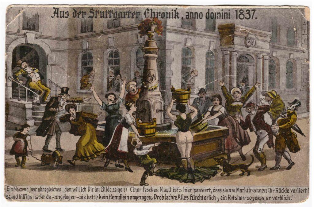 Bild: Postkarte aus Stuttgart von 1921