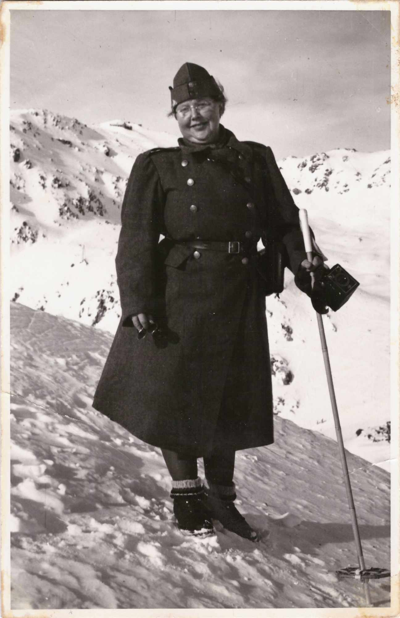 Bild: Maria Gürtler-Baumann in Uniform