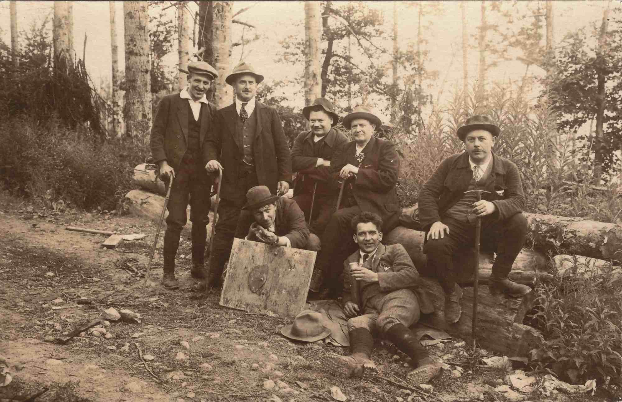 Bild: Gruppenbild am Hartmannsweilerkopf am 5./6. Juni 1920