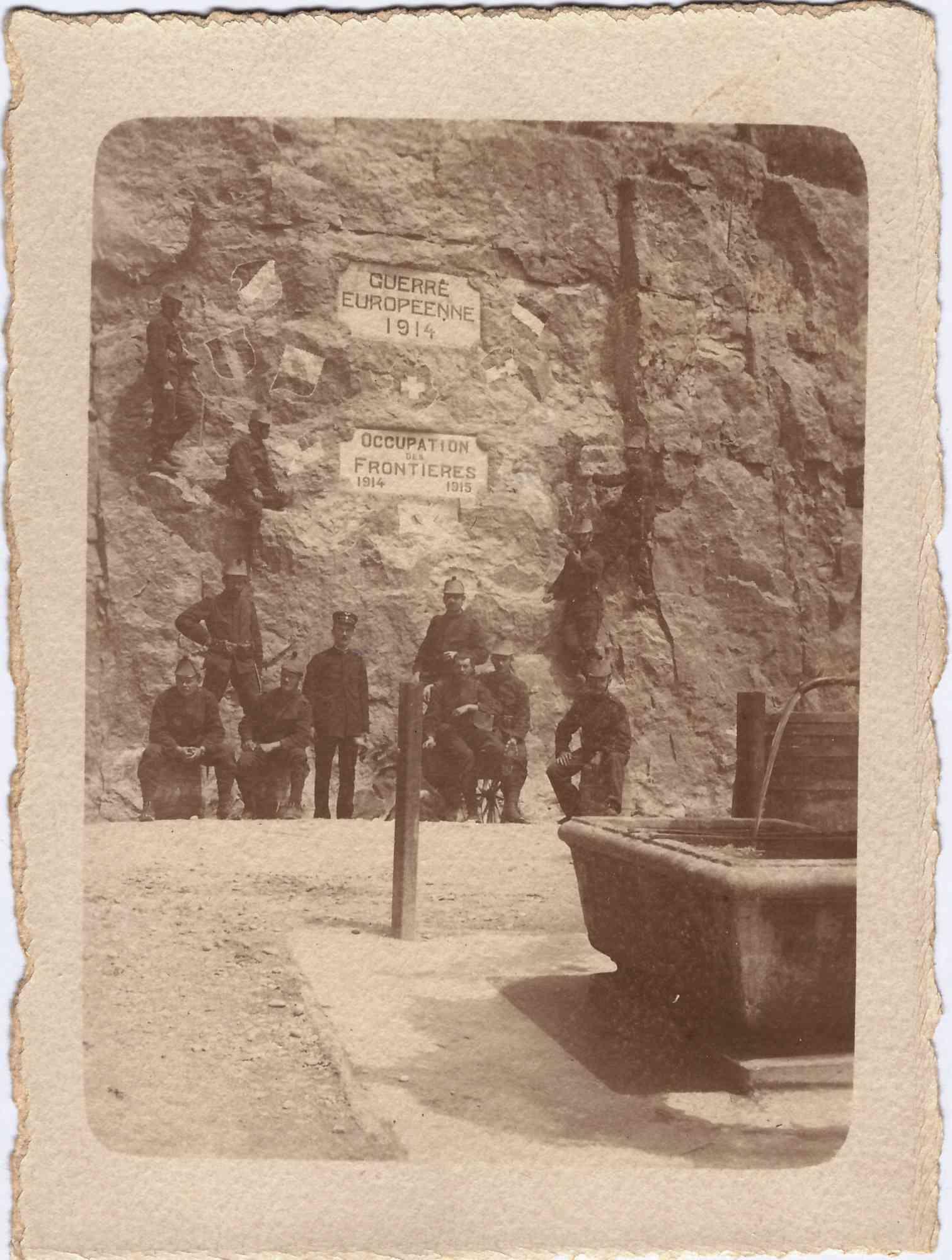 Bild: Grenzbesetzung 1914,Albert Gürtler unten links