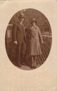 Bild: unbekanntes Paar, Ort und Datum unbekannt