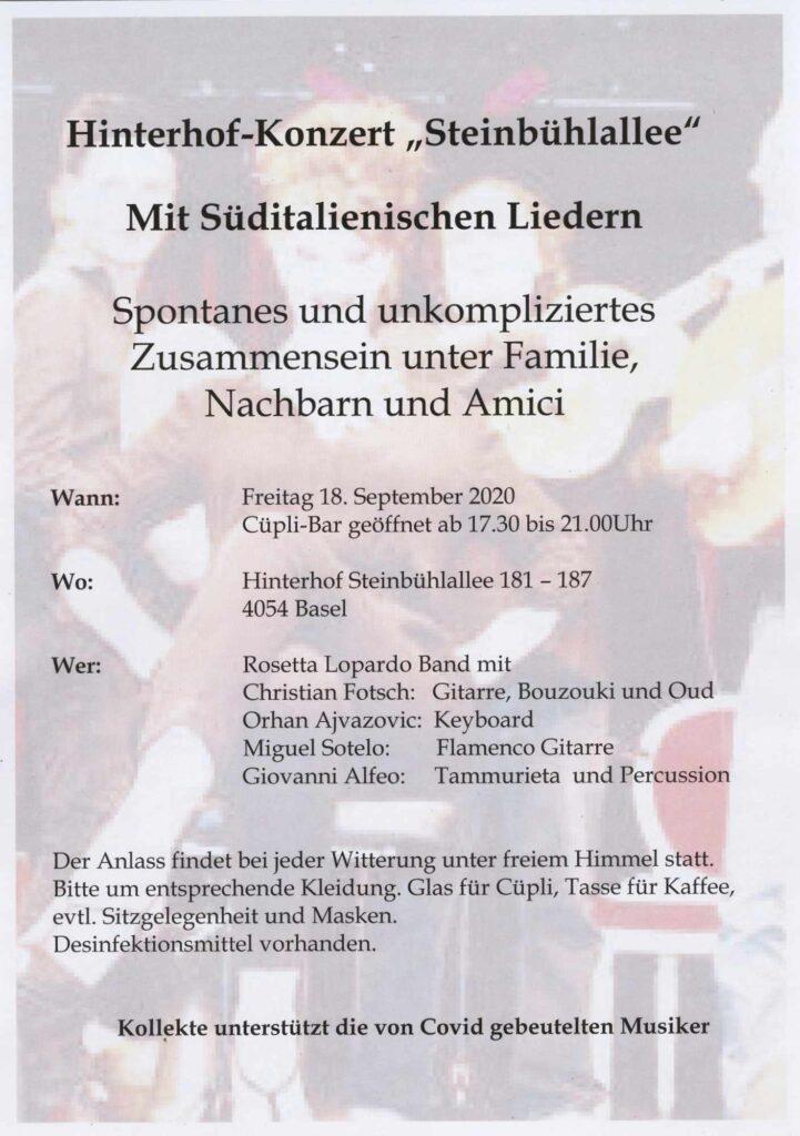 Bild: Hinterhof-Konzert Steinbühlallee
