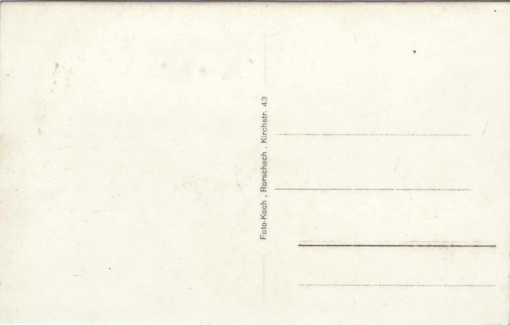 Bild: Rückseite Postkarte Jahr unbekannt