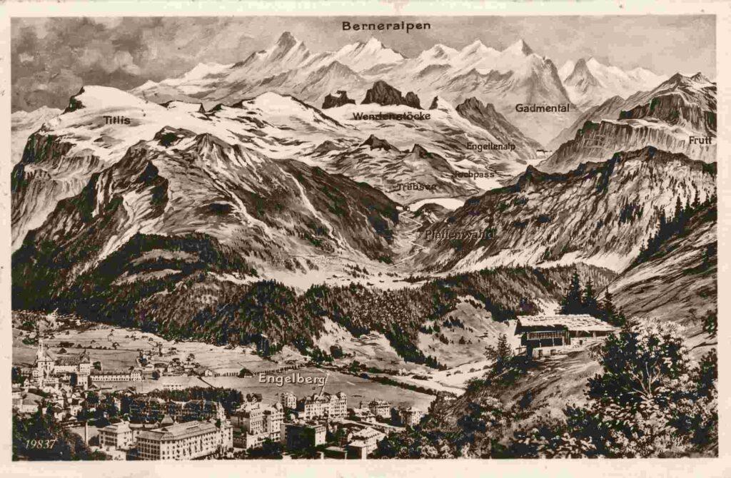 Bild: Postkarte aus Engelberg, 1927