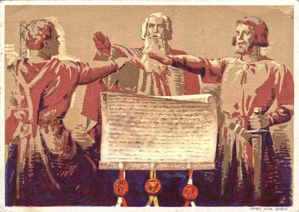 Bild: Postkarte Bundesfeier 1932