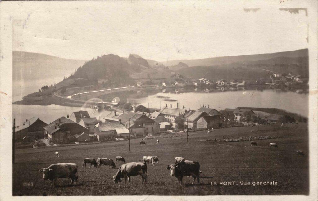 Bild: Postkarte aus Le Pont (Lac de Joux) aus dem Jahr 1926
