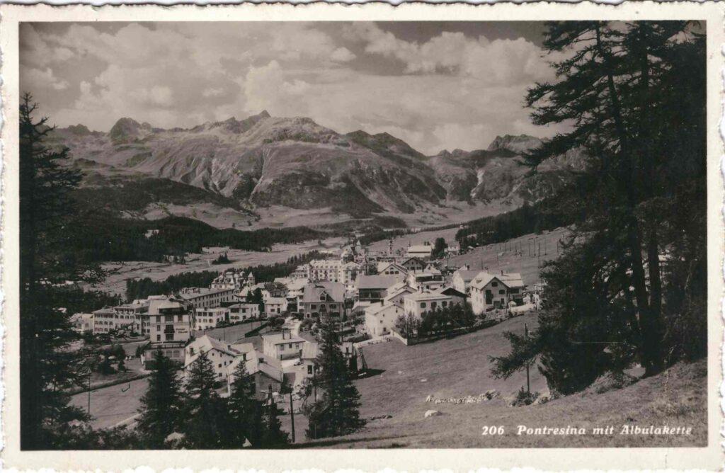 Bild: Postkarte aus Pontresina, 1932