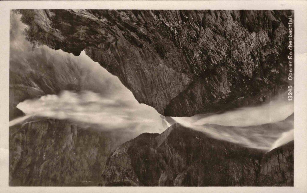 Bild: Postkarte «Oberer Reichenbachfall» 1934