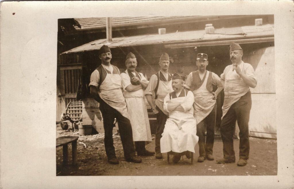 Bild: Postkarte, Feldküche 28. August 1918