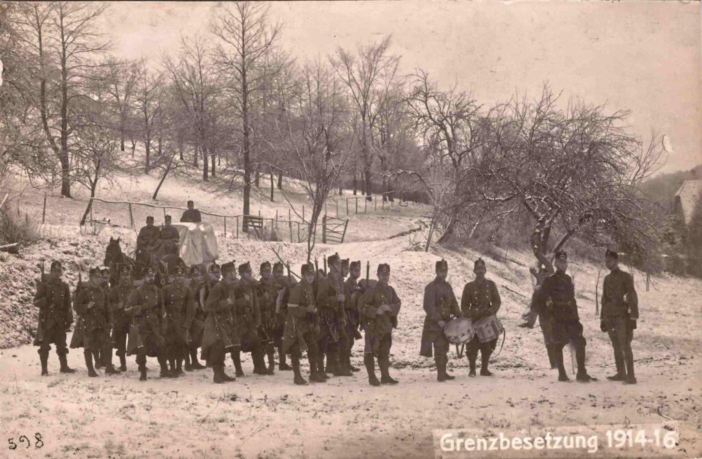 Bild: Postkarte Grenzbesetzung 1914-1916