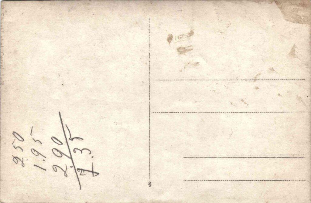 Bild: Postkarte Grenzbesetzung 1914-1916, Rückseite