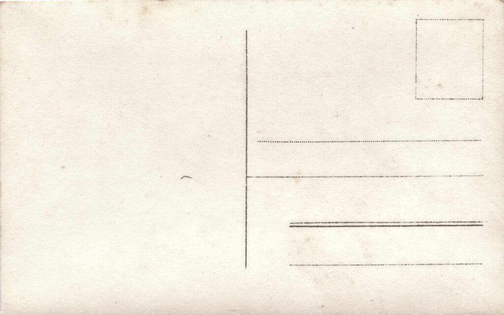 Bild: Postkarte Grenzbesetzung 1914, Rückseite
