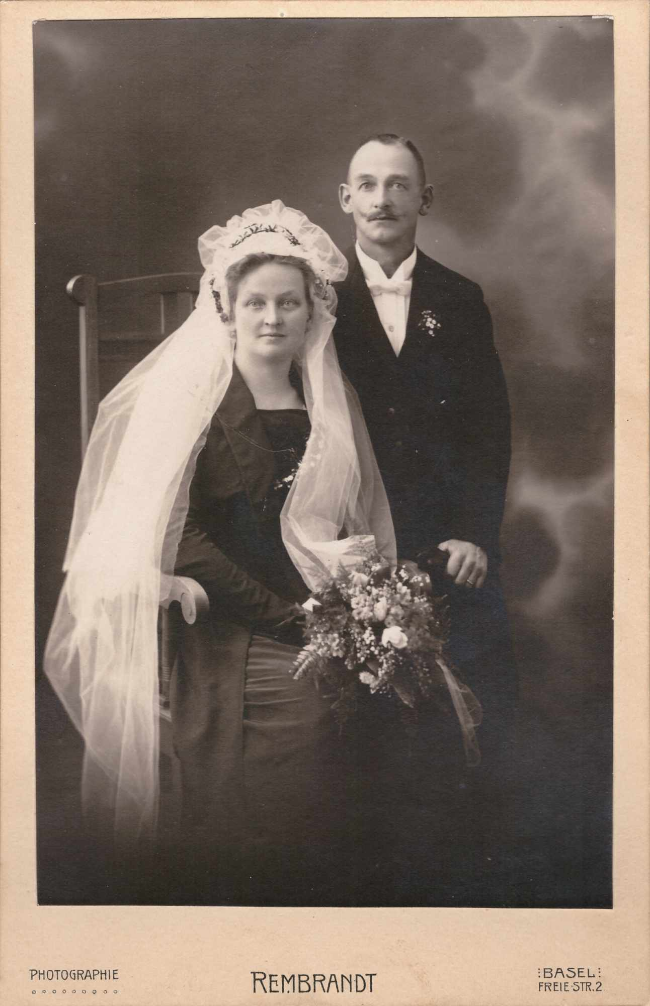 Bild: Hochzeitsfoto, vermutlich die Eltern von Maria Gürtler