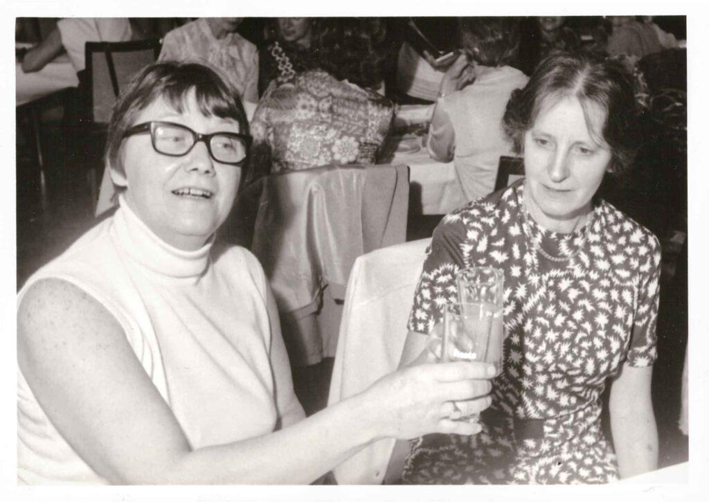 Bild: Pensionatszusammenkunft (1935/36) im April 1972 im Schweizerhof Olten
