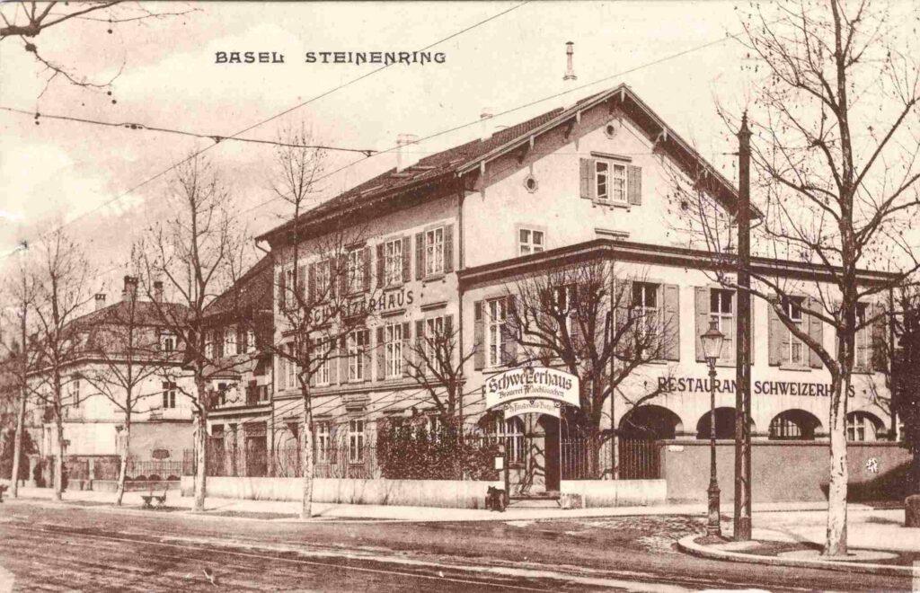 Bild: Postkarte, Restaurant Schweizerhaus, Steinenring, Basel