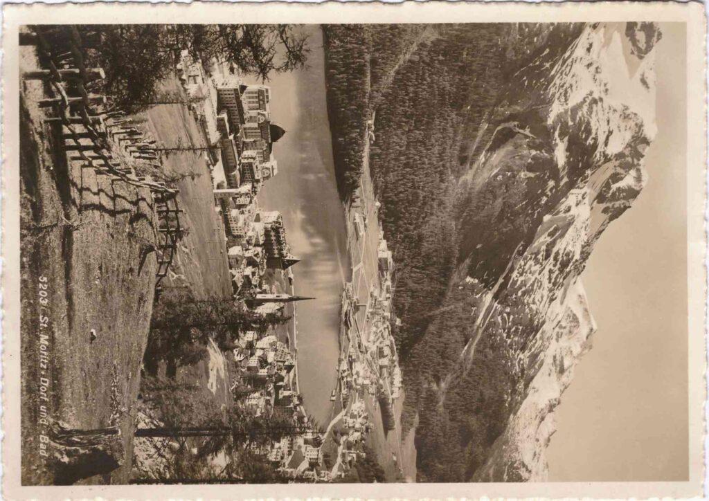 Bild: Postkarte aus St. Moritz, 1921