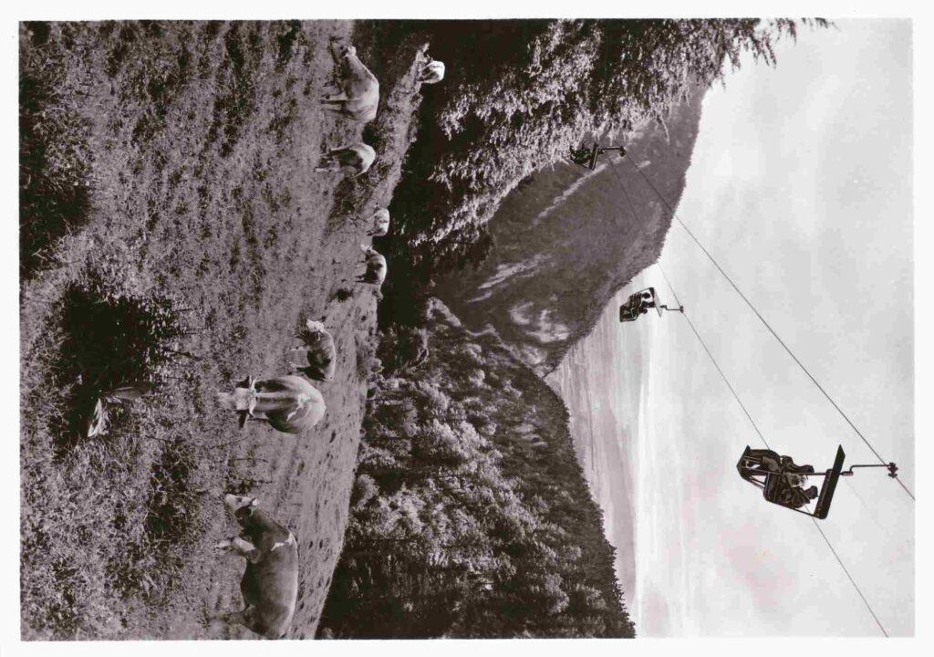 Postkarte: Bergbahn Weissenstein von 1955