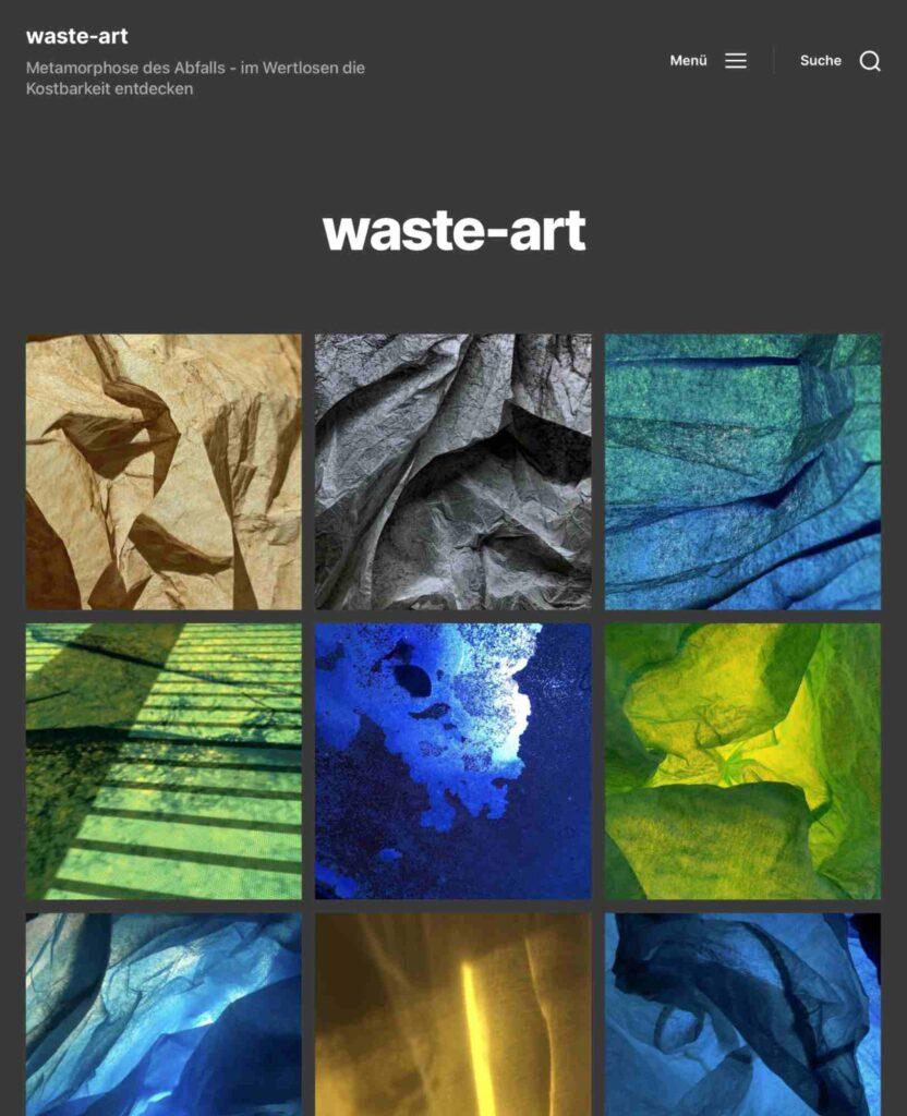 Bild: Screenshot Website Georg Marbet, Waste-Art
