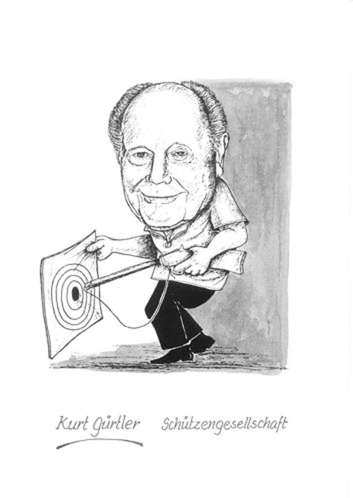 Bild: Karikatur Kurt Gürtler, Schützengesellschaft Liestal