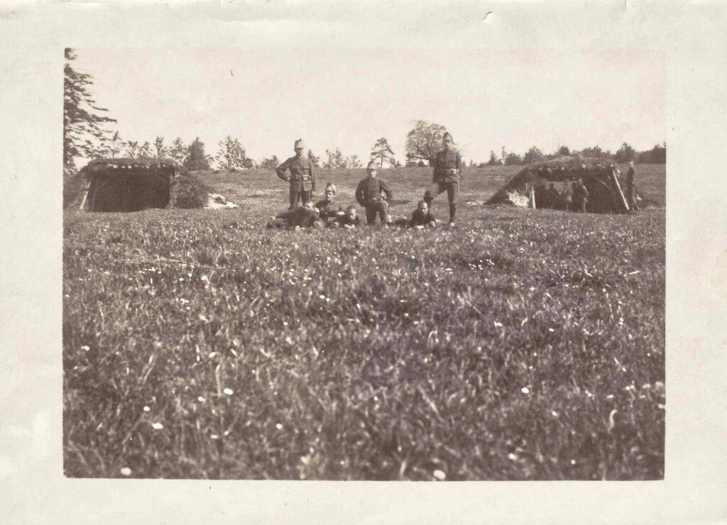 Grenzbesetzung Soldatengruppe, Albert Gürtler vorne links