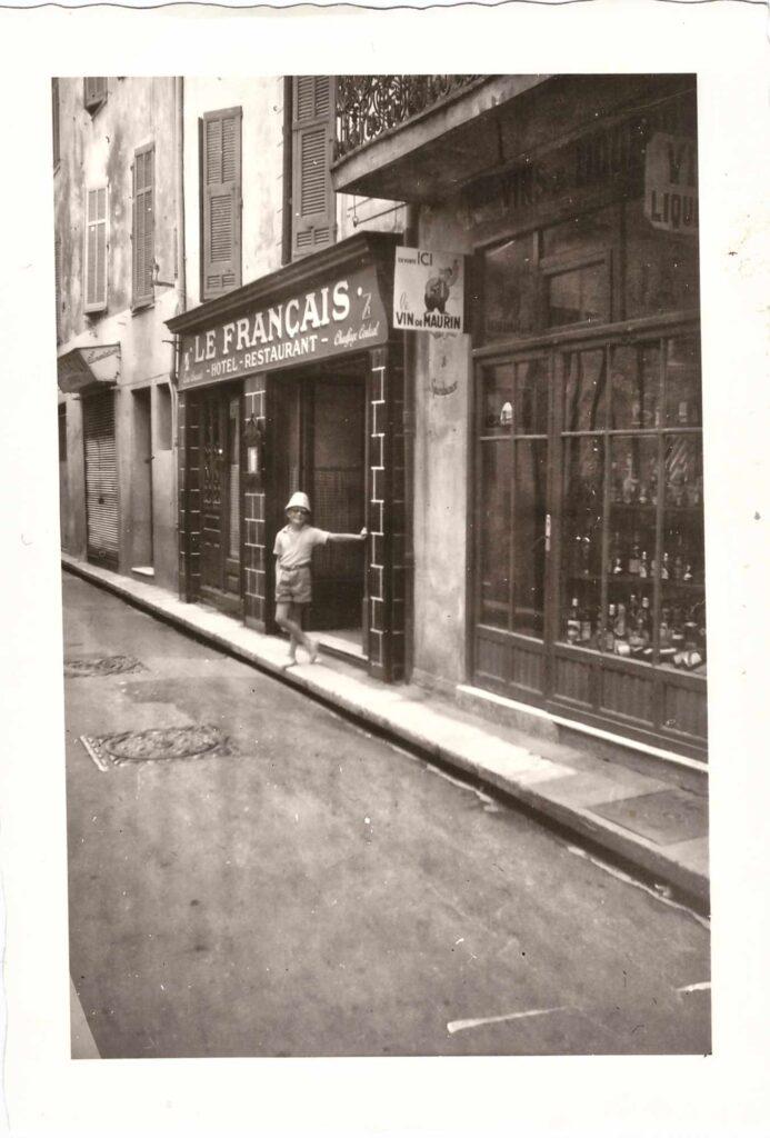 Bild: Urs Ulrich, Ferien in Antibes 1954