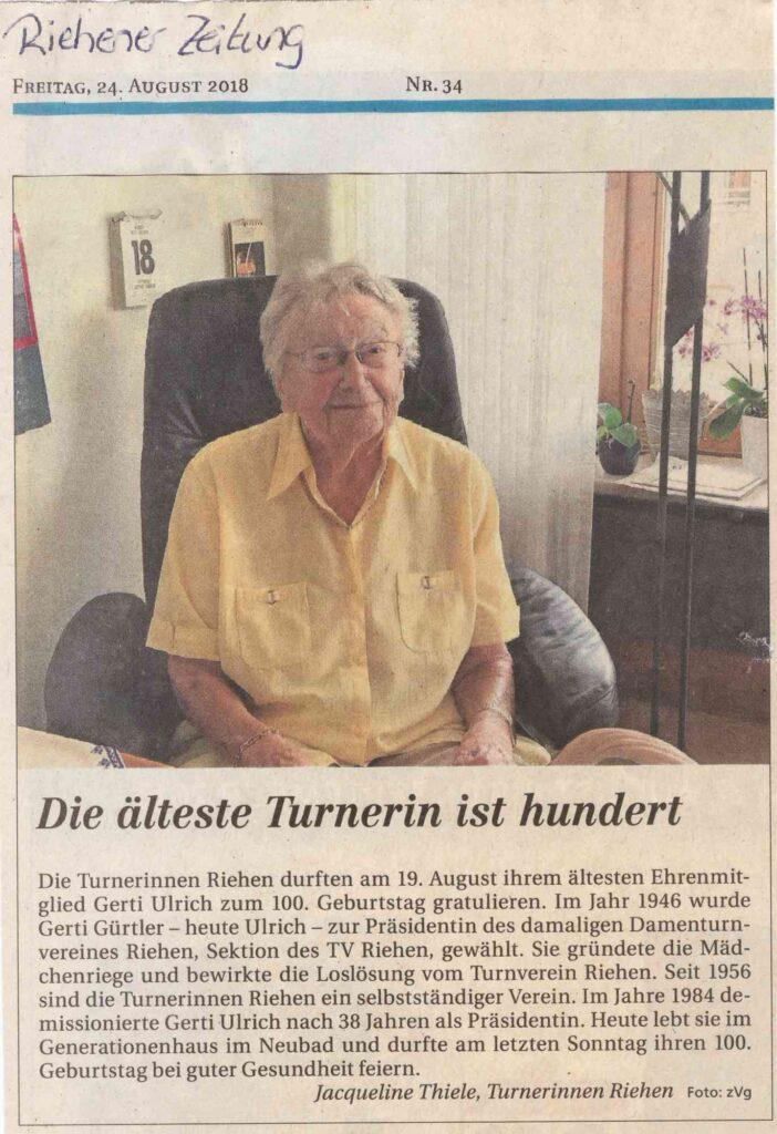 Bild: Riehener Zeitung, 24. August 2018