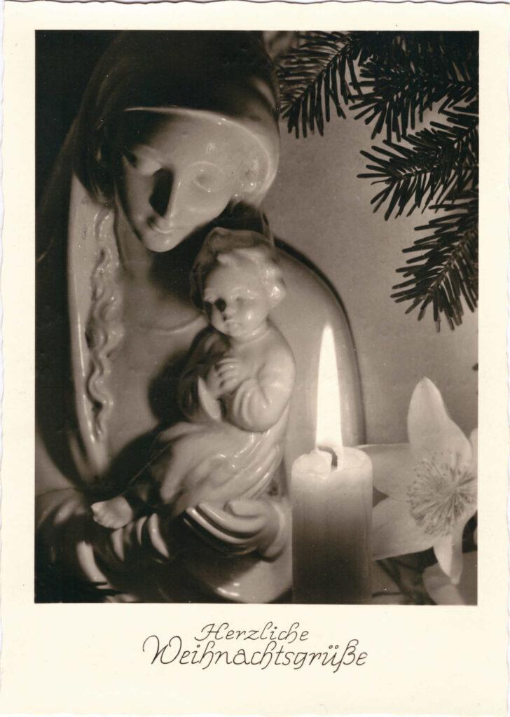 BIld: Herzliche Weihnachtsgrüsse, 1952