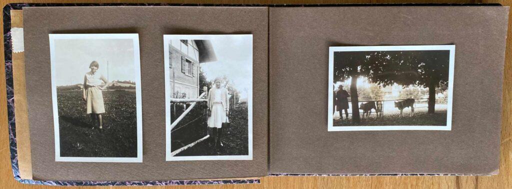Bild: altes Familien Fotoalbum altbacken