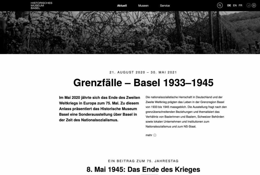 Weltkrieg, Ausstellung Grenzfälle in Basel